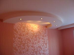 Потолок из ГКЛ в спальне